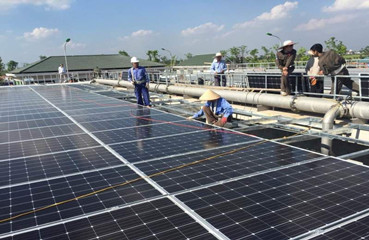 198KW Sewage Treatment Pool PV Project in Vietnam